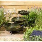 Frog Lilypad Cascade Ceramic Outdoor Water Feature Fountain (Solar) by Smart Garden