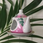 Vintage China Floral Teapot Bird Feeder by Fallen Fruits