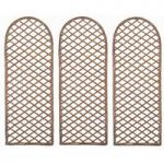 Set of 3 Willow Trellis With Curved Top (120cm x 50cm) by Gardman