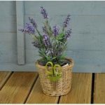 Wicker Flower Pot with Scissors by Fallen Fruits