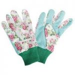 Garden Gloves with Rose Print by Fallen Fruits