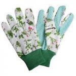 Garden Gloves with Herb Design by Fallen Fruits