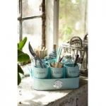 Sophie Conran Gardeners Gubbins Pots & Tray in Blue by Burgon and Ball