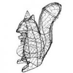 Squirrel Shaped Topiary Metal Frame by Burgon & Ball