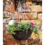 Rattan Hanging Basket (35cm) by Smart Garden