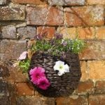 Dark Hyacinth Ball Hanging Basket with Holes (23cm) By Smart Garden