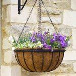 Metal Saxon Hanging Basket (40cm) by Smart Garden