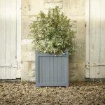 Large Hardwood Garden Planter in Grey by Rustic Garden