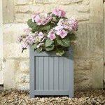 Hardwood Garden Planter in Grey by Rustic Garden