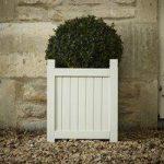 Hardwood Garden Planter in French Grey by Rustic Garden