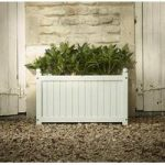 Large Hardwood Trough Garden Planter in French Grey by Rustic Garden