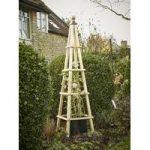 Acacia Hardwood Garden Obelisk (1.53m) by Rustic Garden