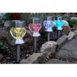Multipurpose Crystal Stake Lights 4 Pack (Solar) by Smart Solar
