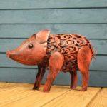 Silhouette Pig Light Garden Sculpture (Solar) by Smart Garden