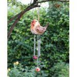 Ceramic Robin Wind Chime Light (Solar) by Smart Garden