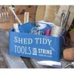 Greenhouse and Shed Tool Tidy Box in Blue by Burgon and Ball