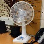 30cm Oscillating Electric Desk Fan (35watt) by Kingfisher