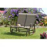 Havana Mocha Twin Rocking Garden Seat by Suntime