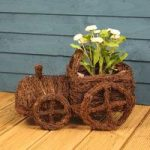 Rattan Tractor Shaped Garden Planter by Westwoods