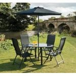 Suntime Havana Dining Set 4 Chairs Table And Parasol