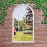 Georgian Arched Window Garden Mirror by Suntime