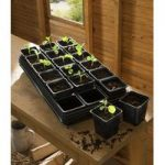 Plastic Potting Tray with 18 Square Pots (9cm) by Gardman
