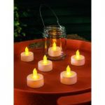 6 x Battery Operated Flickering Tealight Candles by Gardman