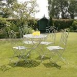 Gloucester Cast Iron 4 Seater Garden Bistro Set by Suntime