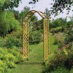 Set of 2 Elegance Wooden Garden Arch with Trellis (Tan) by Gardman