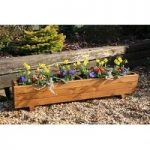 Harlow Wooden Trough Garden Planter by Tom Chambers