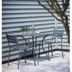 Dean Street Metal Garden Bistro Set in Charcoal by Garden Trading