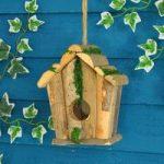Square Log Hut – Bird Nesting Box by Tom Chambers