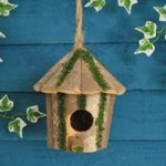 Round Log Hut – Bird Nesting Box by Tom Chambers