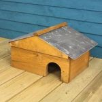 Wooden Hedgehog House with Slate Roof by Tom Chambers