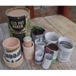 Wooden Eco Paper Plant Pot Maker by Burgon & Ball