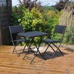 Rattan Effect Garden Bistro Set by Kingfisher