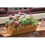 Eden Wooden Window Box Planter (60cm) by Tom Chambers