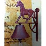 Cast Iron Trotting Horse Door Bell Larchwood Forge