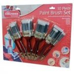 Pack of 10 Paint Brushes by Kingfisher