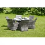Pacific Grey Rattan 7 Piece Round Furniture Set by Li-Lo Leisure