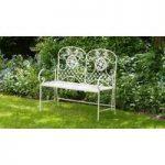 Lucia 2 Seater Vintage Metal Garden Bench by Li-Lo Leisure