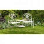 Vintage Metal Lucia Garden Duo Seat by Li-Lo Leisure