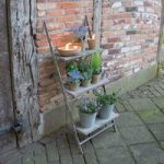 Aged Metal Plant Ladder Stand by Fallen Fruits
