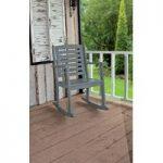 Rocking Carver Garden Chair in Grey by Fallen Fruits