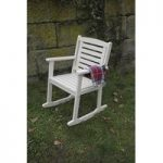 Rocking Carver Garden Chair in Cream by Fallen Fruits
