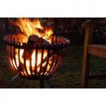 Tulip Shaped Fire Basket by Fallen Fruits