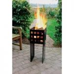 Tall Square Fire Basket by Fallen Fruits