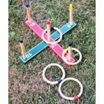 Deluxe Quoits Garden Ring Toss Game by Selections
