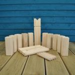 Deluxe Wooden Kubb Viking Chess Garden Game by Selections