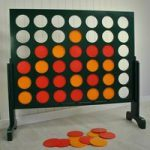Jumbo Deluxe Wooden 4 in a Row Style Garden Game by Selections
